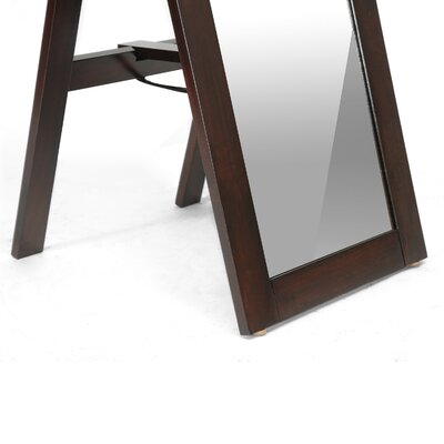 Wholesale Interiors Baxton Studio Lund Modern Mirror with Built-In Stand