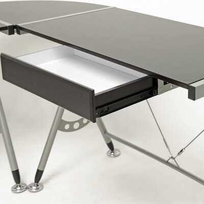 Wholesale Interiors Baxton Studio Elburn L-Shaped Modern Computer Desk