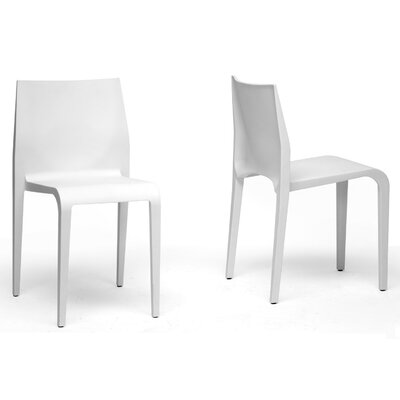 Wholesale Interiors Baxton Studio Blanche Side Chair (Set of 2)