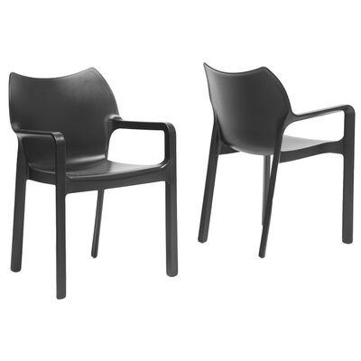 Wholesale Interiors Bastien Accent Chair in Black - Set of 2