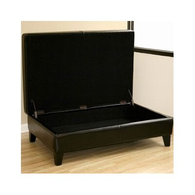 Wholesale Interiors Prospero Leather Storage Ottoman