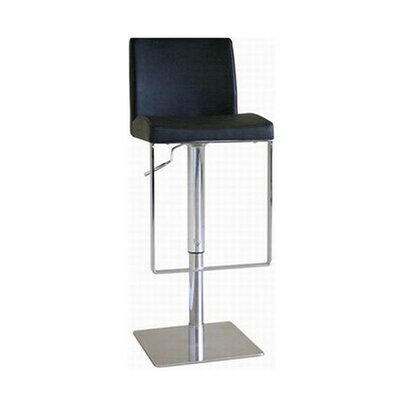 Eglamour Mid-back Leather Adjustable Barstool