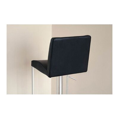 Wholesale Interiors Eglamour Mid-back Leather Adjustable Barstool