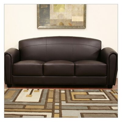 Baxton Studio Sally Leather Sofa