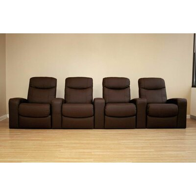Wholesale Interiors Angus Home Theater Recliner (Row of 4)