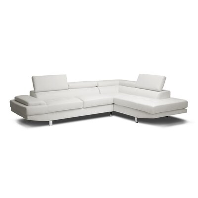 Wholesale Interiors Baxton Studio Selma Leather Modern Sectional Sofa