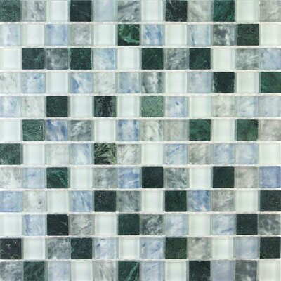 Glacier Mountain Tile with Squares in Rome