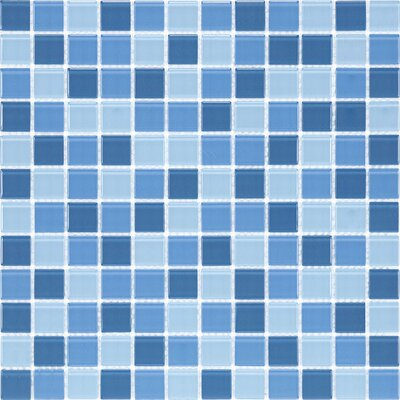 "Giorbello Cristezza Select 11-3/4"" x 11-3/4"" Mosaic Glass Tile in Raindrops"