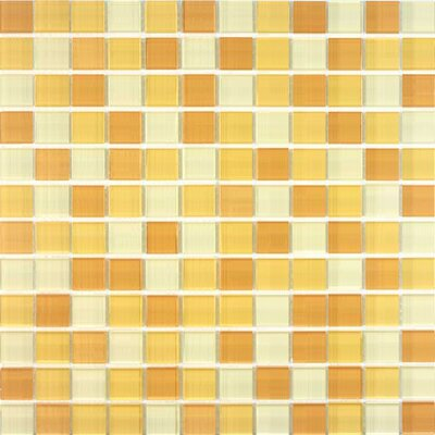 Cristezza Select Mosaic Glass Tile in Butterscotch Sundae