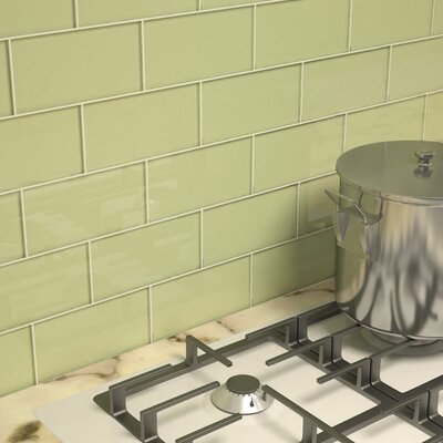 Subway Tile in Light Olive