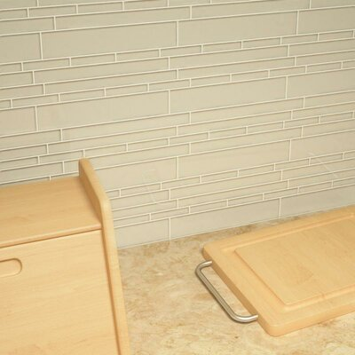 Club Random Sized Cristezza Glass Tile in Light Taupe