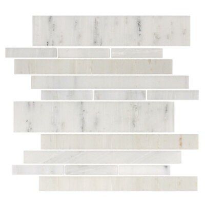 Giorbello Stone Club Random Sized Tile in White Marble