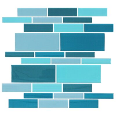California Random Sized Cristezza Glass Tile in Caribbean Breeze