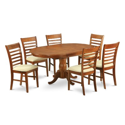 East West Furniture Portland 7 Piece Dining Set & Reviews | Wayfair