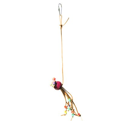 A&E Cage Co. Little Leather Bird Toy