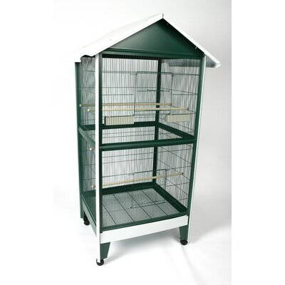 A&E Cage Co. Giant Pitched Roof Aviary Bird Cage
