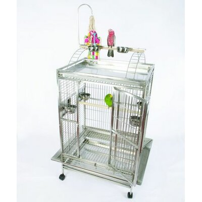 Large Play Top Bird Cage with Bird Toy Hook