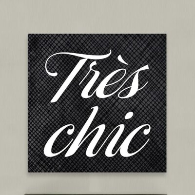 Oliver Gal Tres Chic Canvas Wall Art