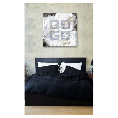"Oliver Gal ""Dove White"" Wall Art on Canvas"