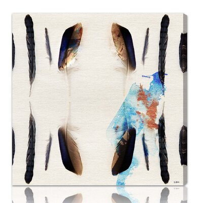 "Oliver Gal ""Plumage"" Wall Art on Canvas"