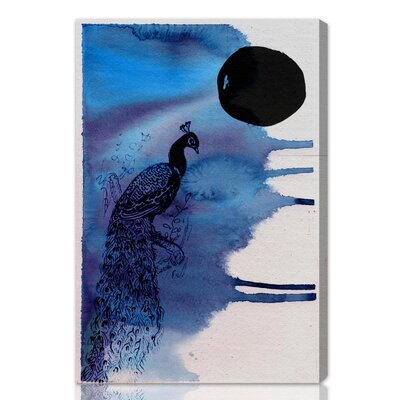 "Oliver Gal ""Indian Peafowl"" Painting Print on Canvas"