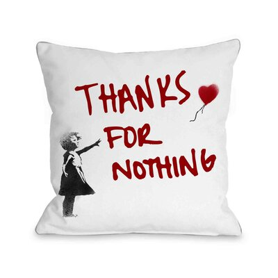 Thanks for Nothing Pillow