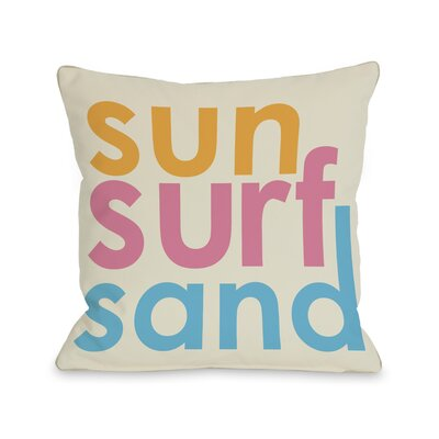 Sun Surf Sand Pillow