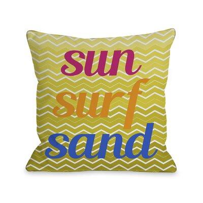 Sun Surf Sand Chevron Pillow