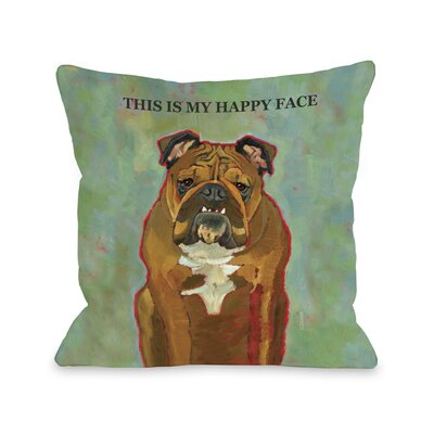 Doggy D�cor This Is My Happy Face Pillow