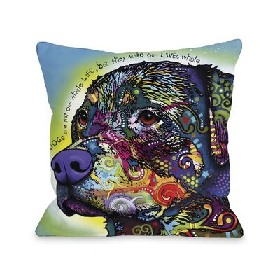 Doggy D�cor The Rottweiler with Text Pillow