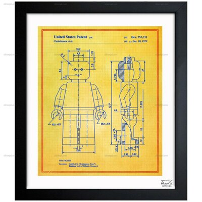 Lego Toy Figure 1979 Framed Graphic Art in Colorful