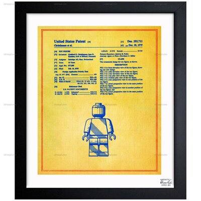 Lego Toy Figure #3 1979 Framed Graphic Art in Colorful