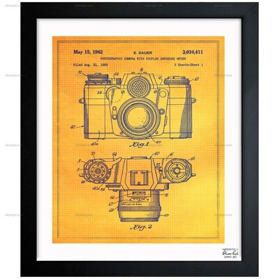 Sauer Photographic Camera 1962 Framed Painting Print