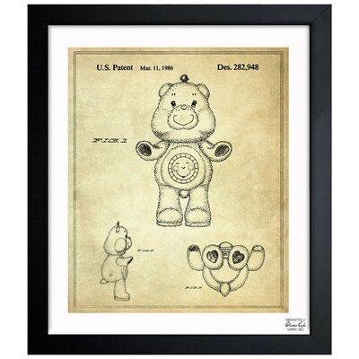 Carebears -�Sunshine Bear 1986 Framed Painting Print