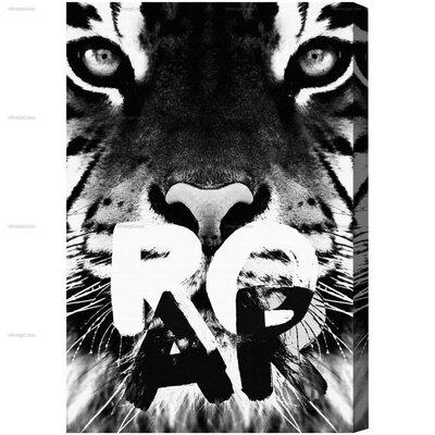 Roar Graphic Art on Canvas