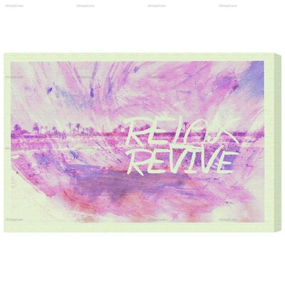 Revive Graphic Art on Canvas