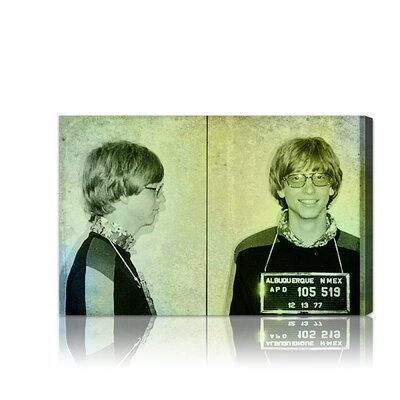 Oliver Gal ''Bill Gates Mugshot'' Canvas Art Print