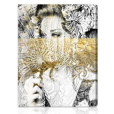 "Oliver Gal ""Bloom"" Canvas Art Printing Strokes"" Canvas Art Print"