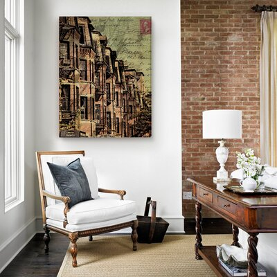"Oliver Gal ""Boston Brownstone"" Canvas Art Print"