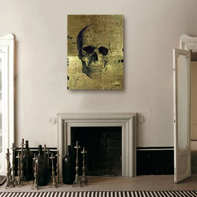 Oliver Gal ''Calavera de Oro'' Canvas Wall Art