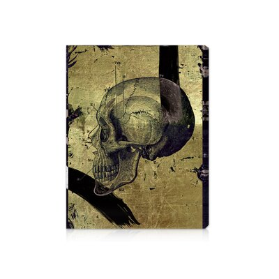 ''Calavera de Oro II'' Graphic Art on Canvas