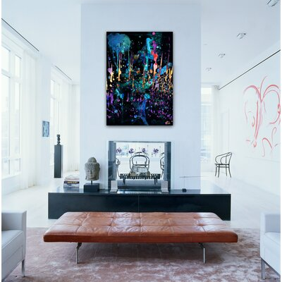 "Oliver Gal ""Darkest Hour"" Painting Print on Canvas"