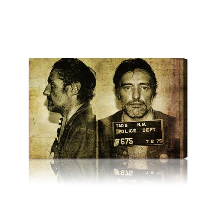 Oliver Gal ''Dennis Hopper Mugshot'' Graphic Art on Canvas