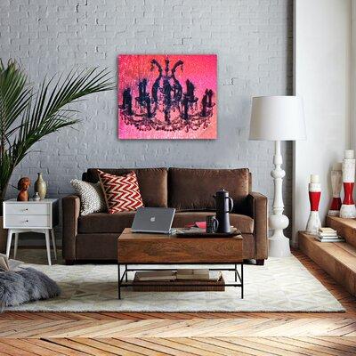 "Oliver Gal ""Diamond Burst"" Graphic Art on Canvas"