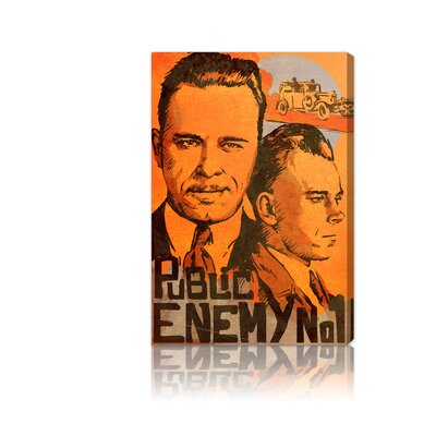 Oliver Gal ''Dillinger Public Enemy'' Canvas Art Print