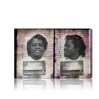 ''James Brown Mugshot'' Graphic Art on Canvas