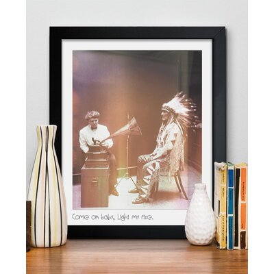 Oliver Gal ''Light My Fire'' Frame Art Printed