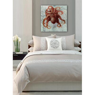 "Oliver Gal ""Octopus"" Painting Print on Canvas"