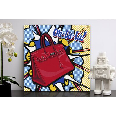 "Oliver Gal ""Oh La La"" Canvas Wall Art"