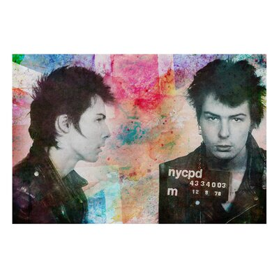 Oliver Gal ''Sid Vicious Mugshot'' Graphic Art on Canvas
